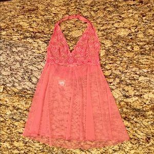Victoria's Secret Pink Lace Halter Top Babydoll